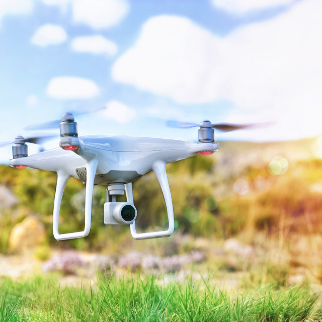 """""""Drone with camera for remote control fpv"""" stock image"""