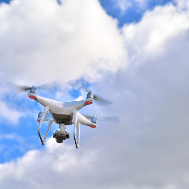 """""""Professional drone with camera for photo and video recording"""" stock image"""