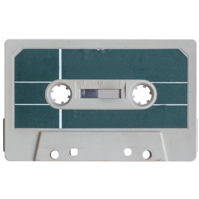"""""""Isolated Grungy Cassette Tape"""" stock image"""