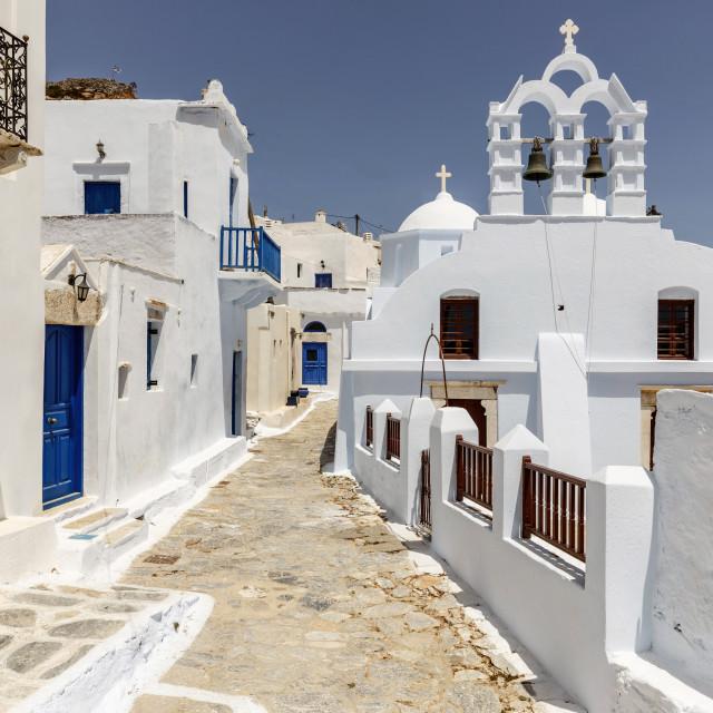 """""""Amorgos Chora - Cyclades Greece"""" stock image"""