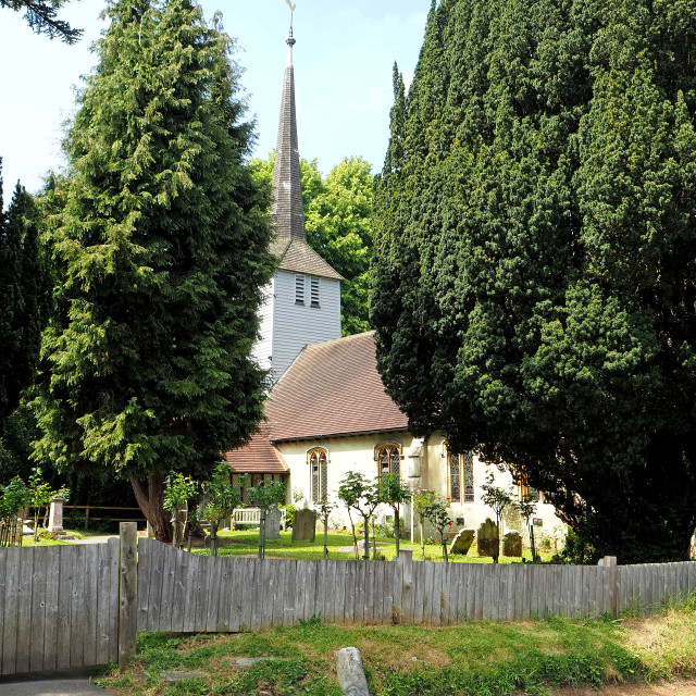 """The Church of St. Mary the Virgin, Shenfield, Essex, UK"" stock image"