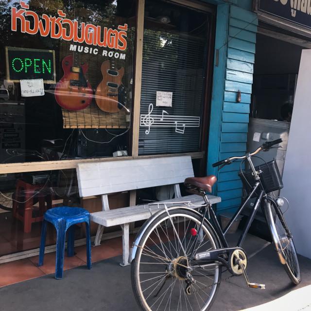 """""""Chiang Mai Bike"""" stock image"""