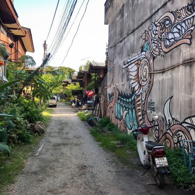 """""""Chiang Mai Alleyway"""" stock image"""