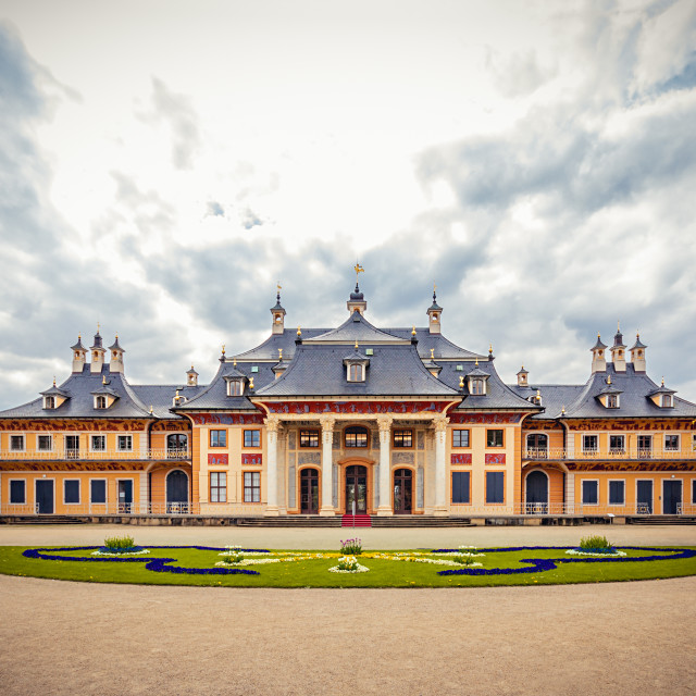 """""""Pillnitz Castle, Dresden"""" stock image"""