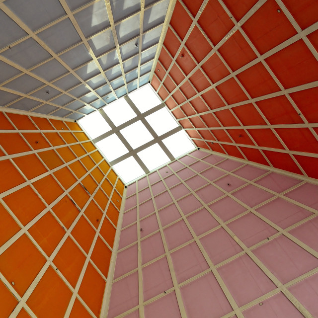 """Geometric ceiling"" stock image"