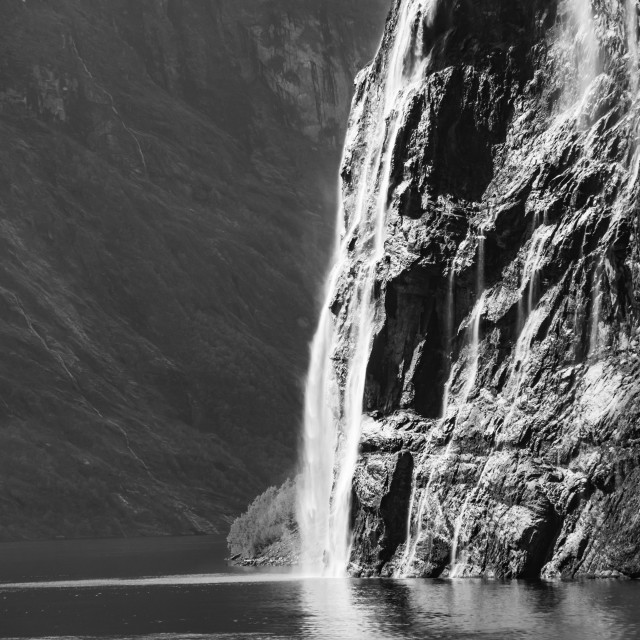 """Norway - Geirangerfjord - The Bridal Veil Waterfall"" stock image"