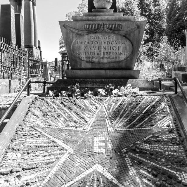 """""""Zamenhof grave"""" stock image"""