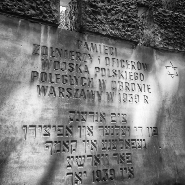 """Polish Army monument"" stock image"