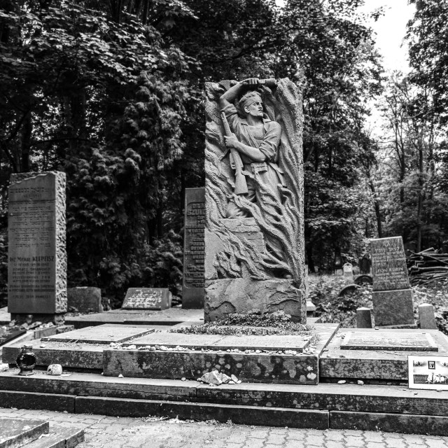 """""""Bund and Cukunft monument"""" stock image"""