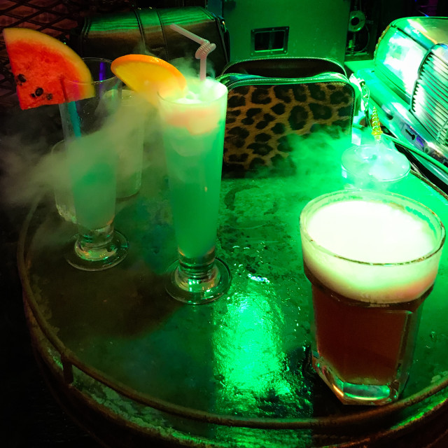 """""""Dry Ice Cocktails"""" stock image"""