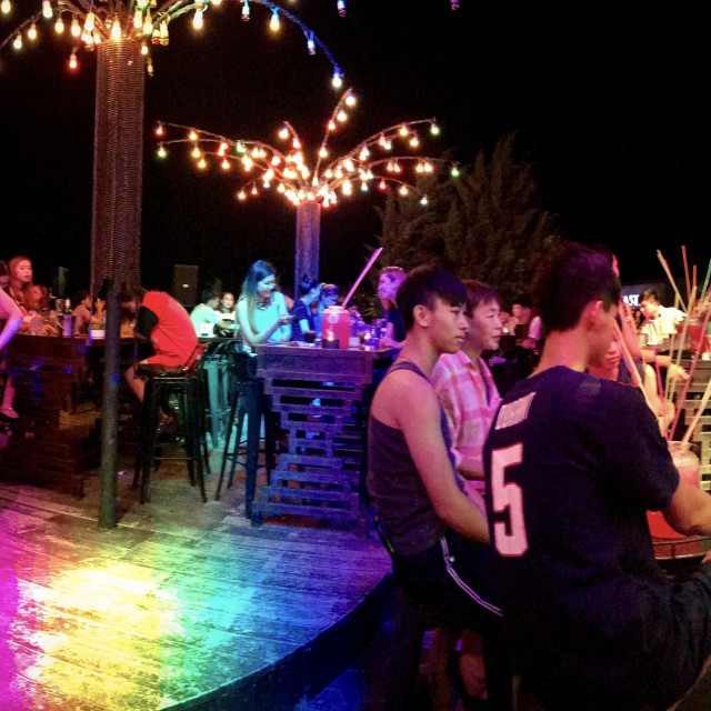 """Chiang Mai Bar Panorama"" stock image"