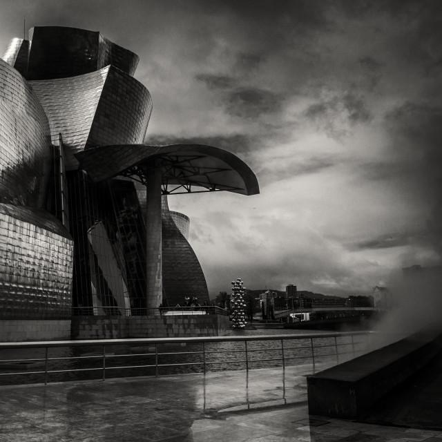 """""""Guggenheim Museum, Bilbao Spain"""" stock image"""
