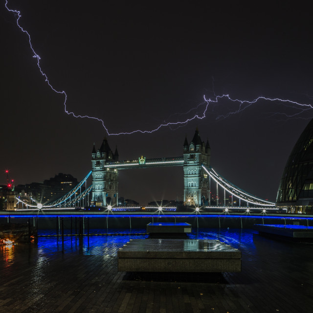 """Lightning Strikes In London"" stock image"