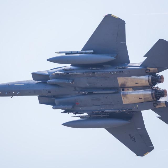 """F-15E launches from Lakenheath"" stock image"
