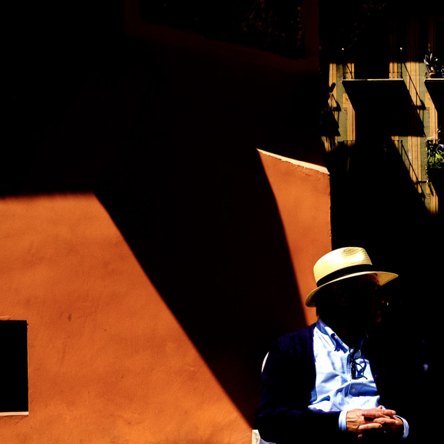 """Shadows in Granada Spain"" stock image"