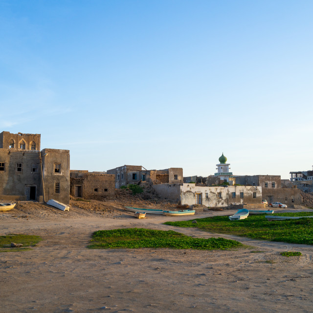 """Old house, Dhofar Governorate, Mirbat, Oman"" stock image"
