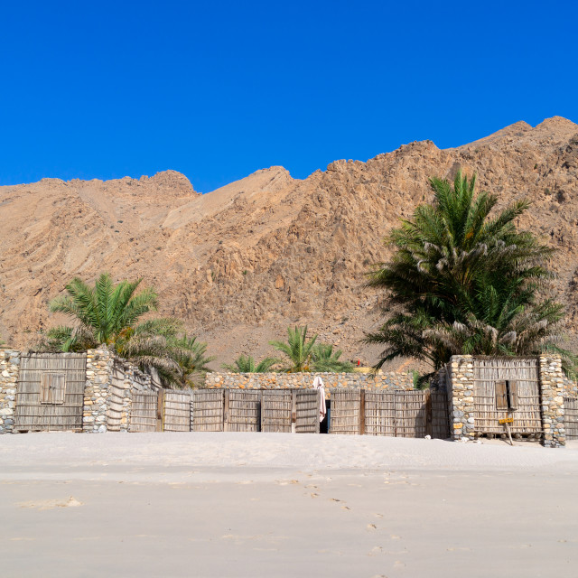 """Six senses zinghy bay, Musandam Governorate, Zinghy Bay, Oman"" stock image"