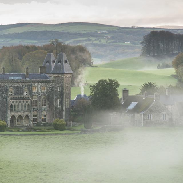 """Newton House, Dinefwr Park near Llandeilo. Carmarthenshire, Wales, UK."" stock image"
