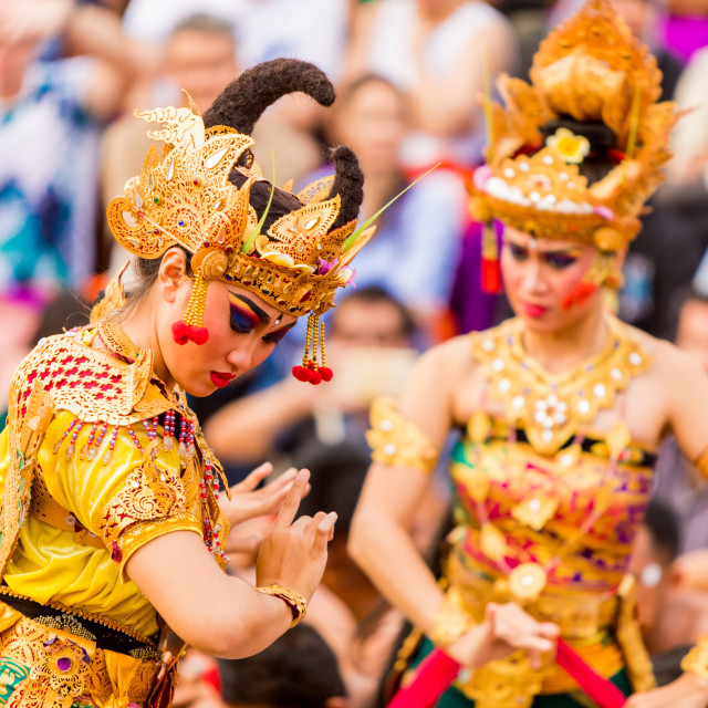 """Kecak Dace in Ulu Wat Temple, Bali"" stock image"