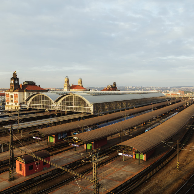 """Europe, Czech Republic, Prague, main train station"" stock image"