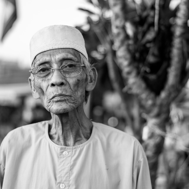 """Portrait of a Cham man"" stock image"