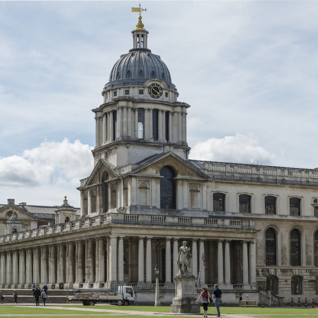 """Greenwich Naval College London (II)"" stock image"