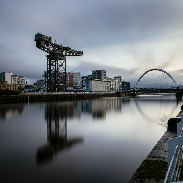 """""""The Clyde Arc, River Clyde, Glasgow"""" stock image"""