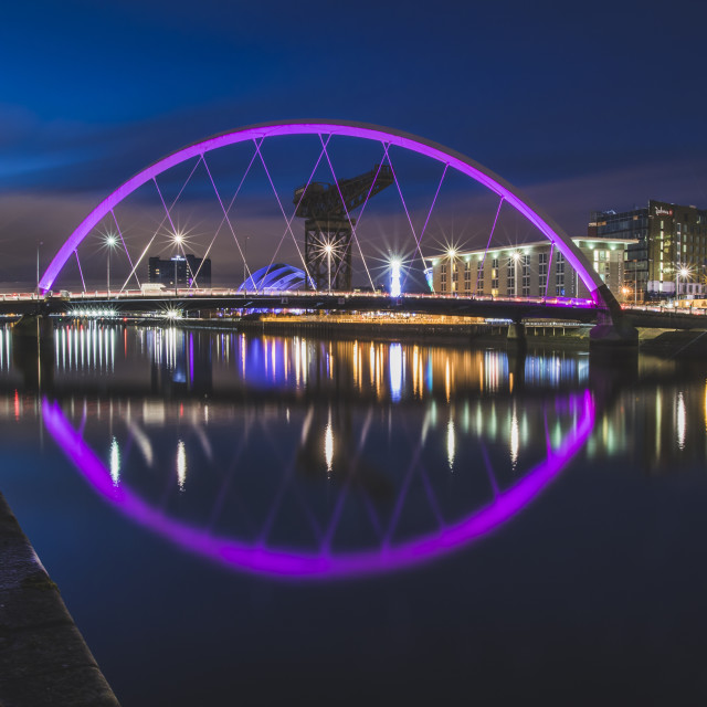 """""""The Clyde Arc, River Clyde in Glasgow"""" stock image"""