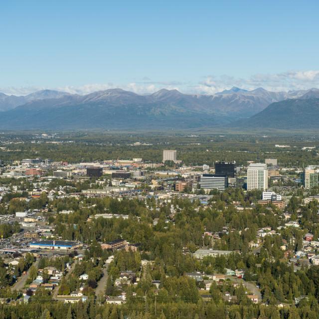 """""""Anchorage, Alaska, USA."""" stock image"""
