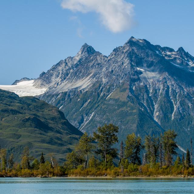 """Crescent Lake, Lake Clark National Park and Preserve, Alaska, USA."" stock image"