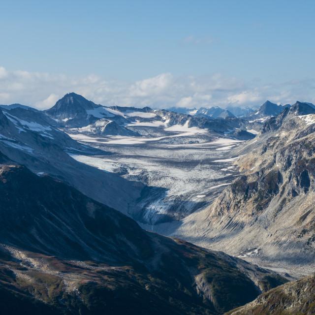 """Aerial of Lake Clark National Park and Preserve, Alaska, USA."" stock image"