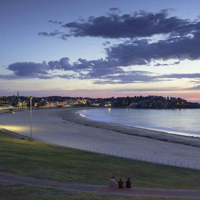 """Bondi Beach at dawn, Sydney, New South Wales, Australia"" stock image"