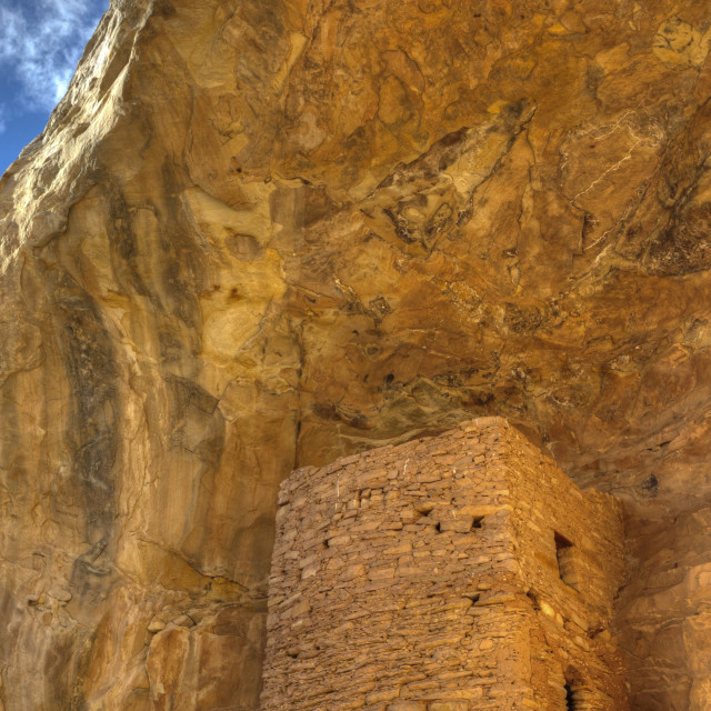 """""""Tower Ruins, Ancestral Pueblo, up to 1,000 years old, Coomb Ridge area, Utah,..."""" stock image"""