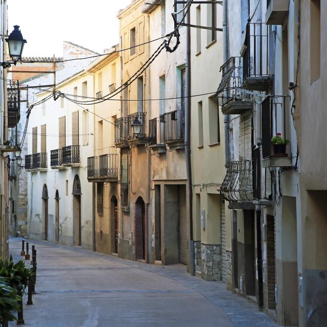 """""""Old town of Cornudella de Montsant, Catalonia, Spain"""" stock image"""