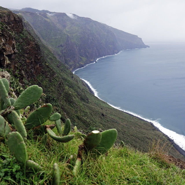 """""""Looking south from the Ponta do Pargo lighthouse, the most westerly point of..."""" stock image"""