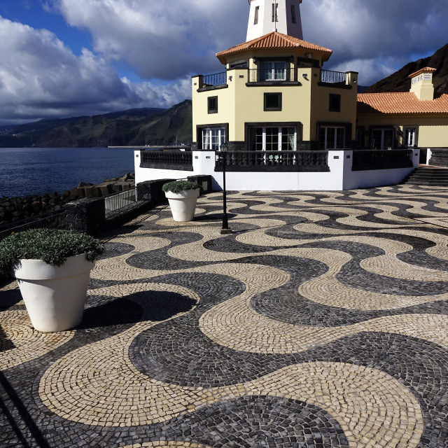 """""""The lookout tower at Quinta do Lorde, Canical, east Madeira, Portugal"""" stock image"""