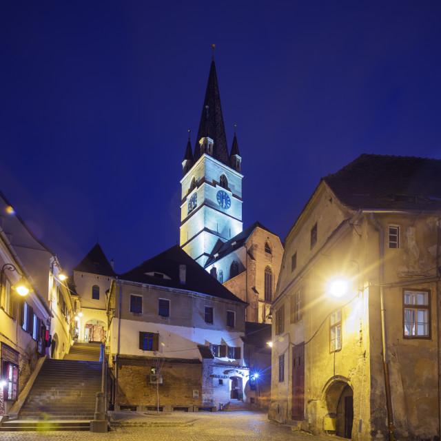 """""""Eastern Europe, Romania, Sibiu, Old Town"""" stock image"""