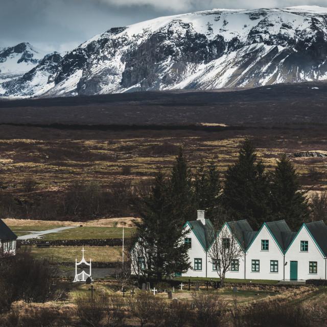 """Þingvallakirkja"" stock image"