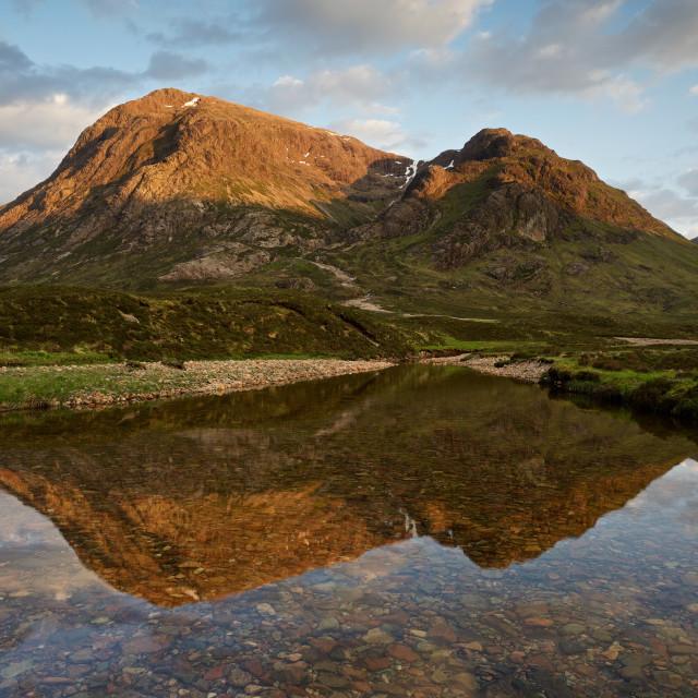 """""""The Last of the Light in Glencoe"""" stock image"""