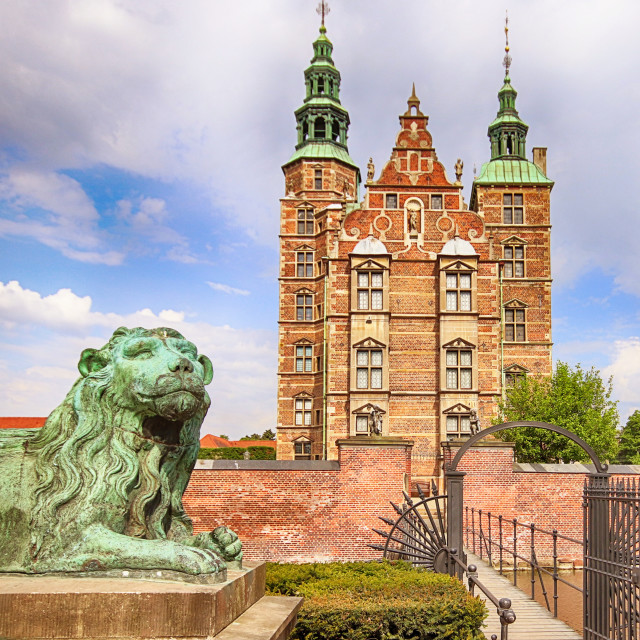 """COPENHAGEN, DENMARK - beautiful view of Rosenborg castle"" stock image"
