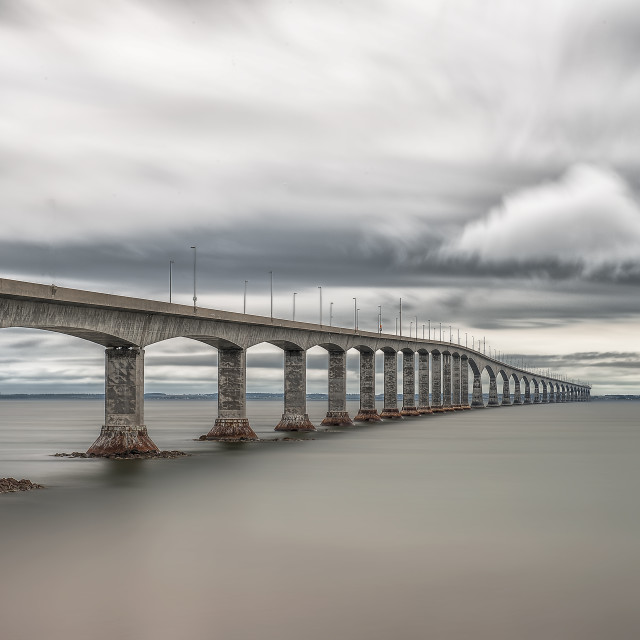 """Confederation Bridge"" stock image"
