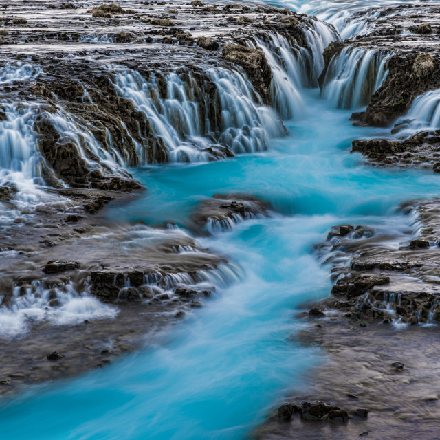 """Bruarfoss Waterfall in Iceland"" stock image"