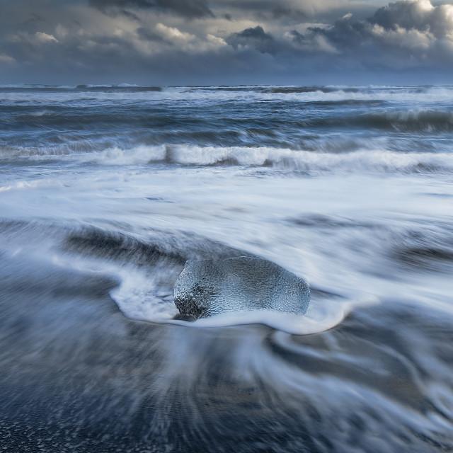 """Ice Beach, Iceland"" stock image"