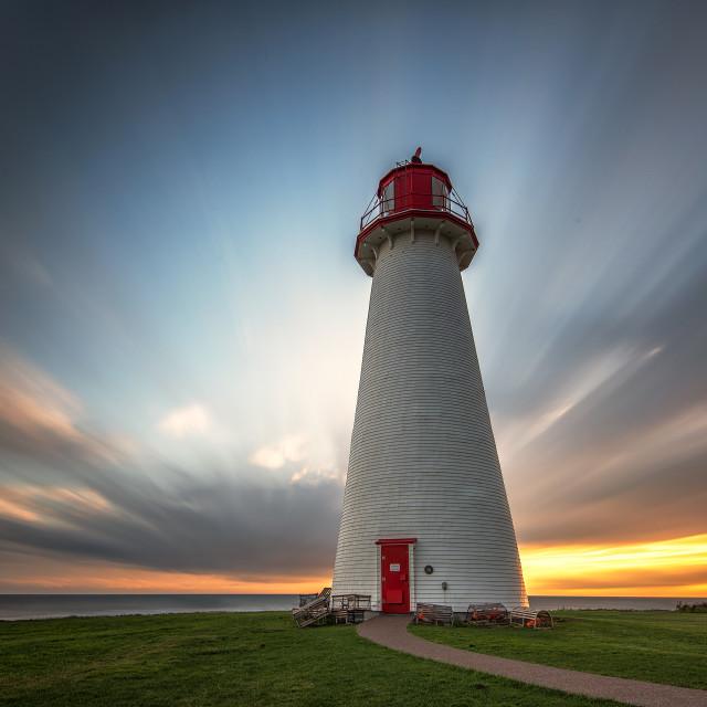 """Point Prim Lighthouse, PEI"" stock image"