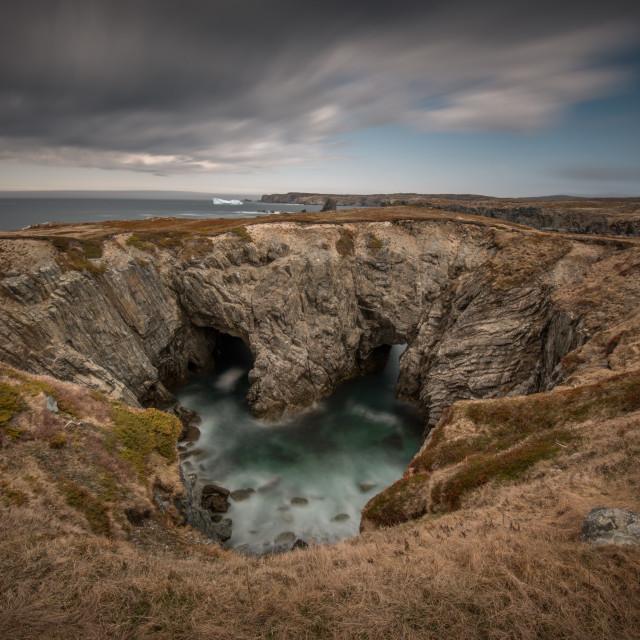 """The Dungeon, Bonavista , Newfoundland"" stock image"