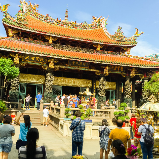 """""""Lungshan Temple of Manka is a Buddhist temple in Wanhua District, Taipei,..."""" stock image"""