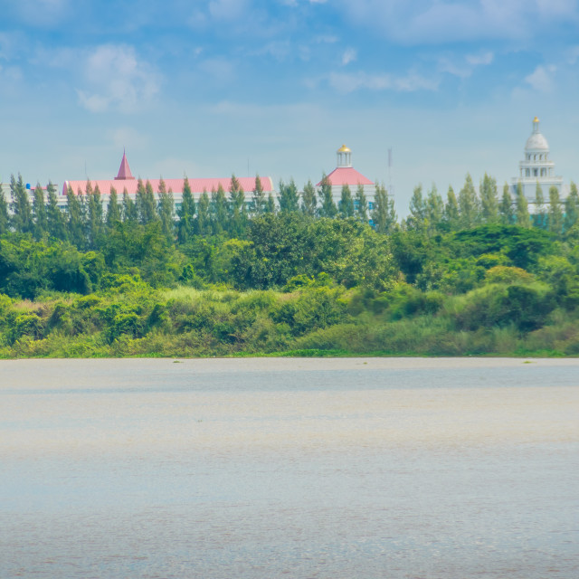"""""""Beautiful river view of the Moon River nearby Ratchathani university at Ubon..."""" stock image"""