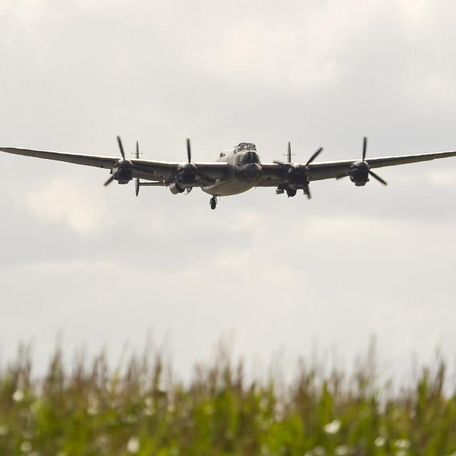 """Canadian Lancaster Bomber"" stock image"