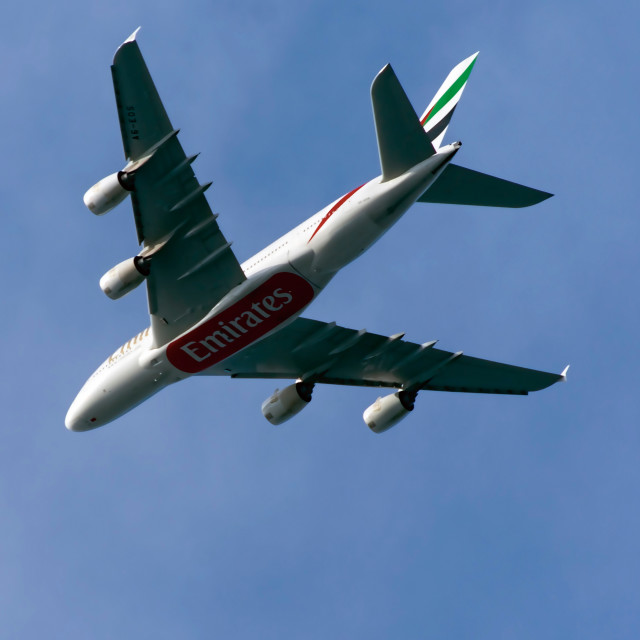 """Airbus A380-861"" stock image"
