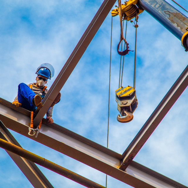 """""""industrial construction worker frames"""" stock image"""